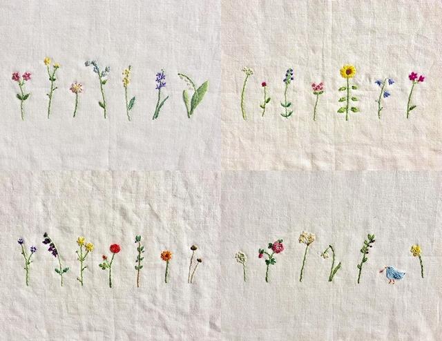 四季の花の刺繍