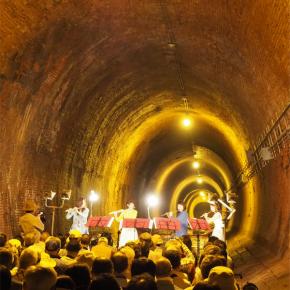 トンネル嫌いが行く湊川隧道にてフルート4重奏コンサート